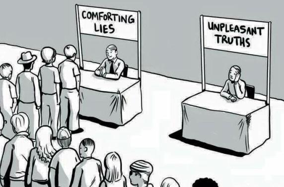 comforting lies meme