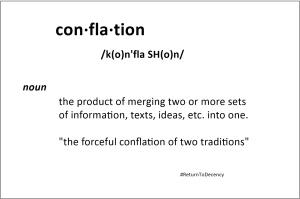 Conflation meme