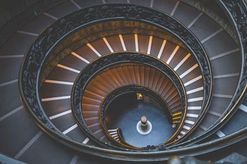 spiral staircase sized