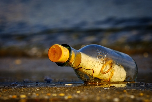 message-in-a-bottle - Image by Antonio Doumas