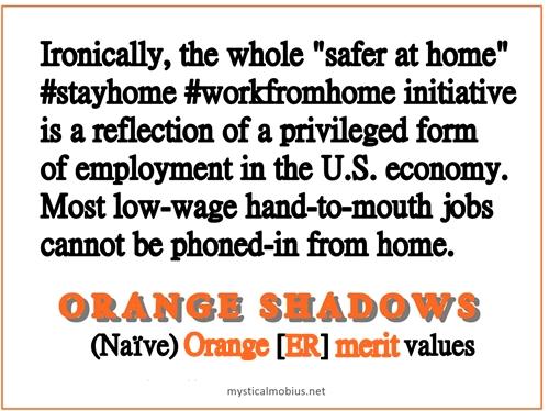 Stay Home Orange Shadows meme